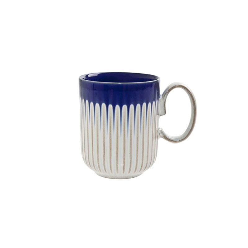 Denby Pottery Cobalt Fluted Mug