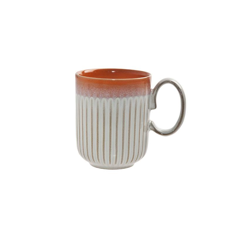 Denby Pottery Orange Fluted Mug