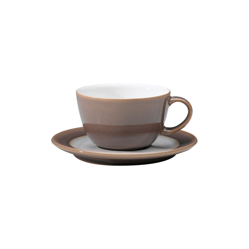 Denby Pottery Truffle Tea Saucer (teacup sold separately)