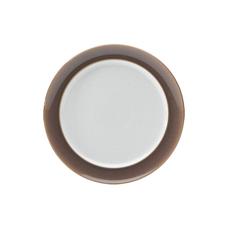 Denby Pottery Truffle Wide Rimmed Dessert Plate