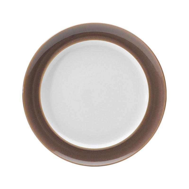 Denby Pottery Truffle Wide Rimmed Dinner Plate