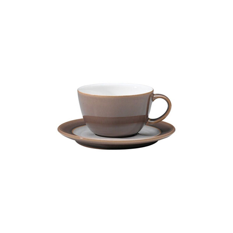 Denby Pottery Truffle Wide Rimmed Saucer (teacup sold separately)