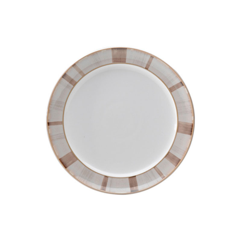 Denby Pottery Truffle Layers Wide Rimmed Dessert Plate