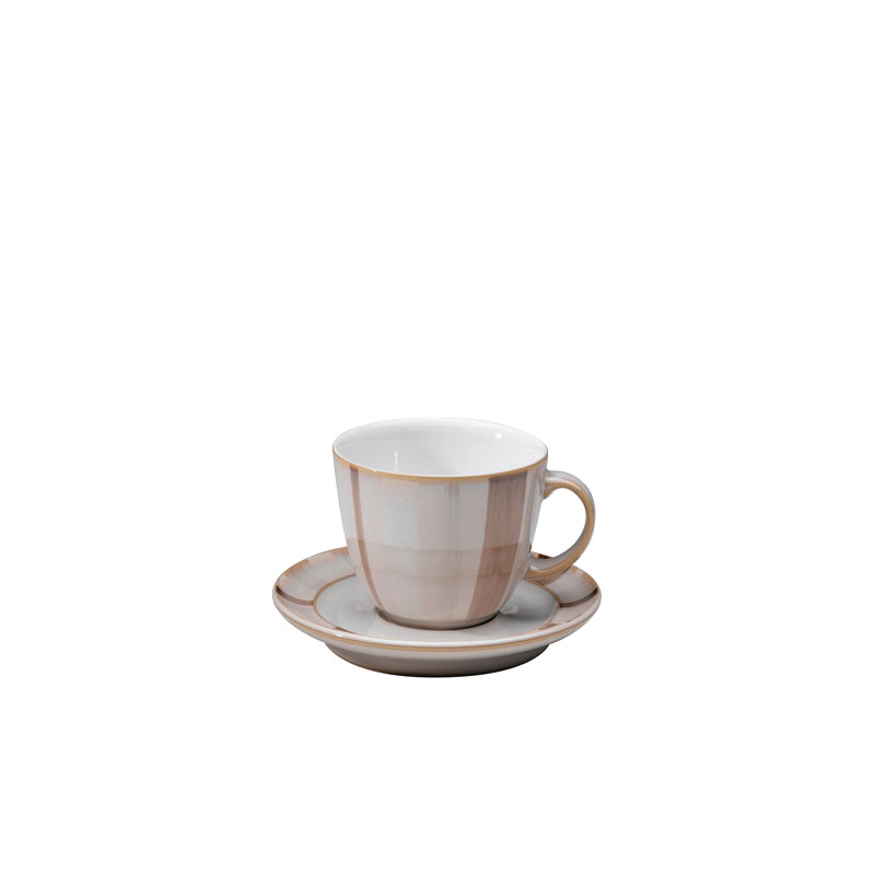 Denby Pottery Truffle Layers Wide Rimmed Saucer (cup sold separately)