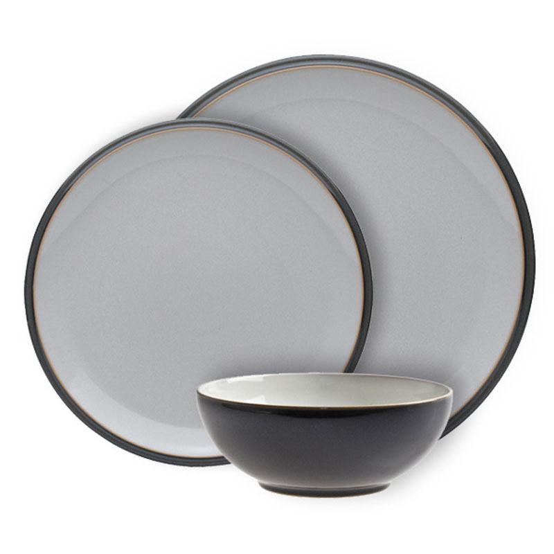 denby pottery everyday mushroom 12 piece dinner set. Black Bedroom Furniture Sets. Home Design Ideas