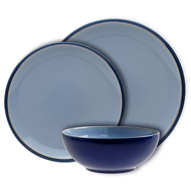 denby pottery everyday blueberry 12 piece dinner set ebay. Black Bedroom Furniture Sets. Home Design Ideas