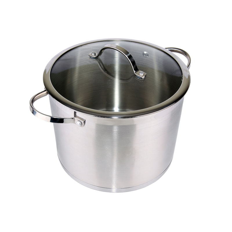 Denby Pottery Stainless Steel Stock Pot with Lid