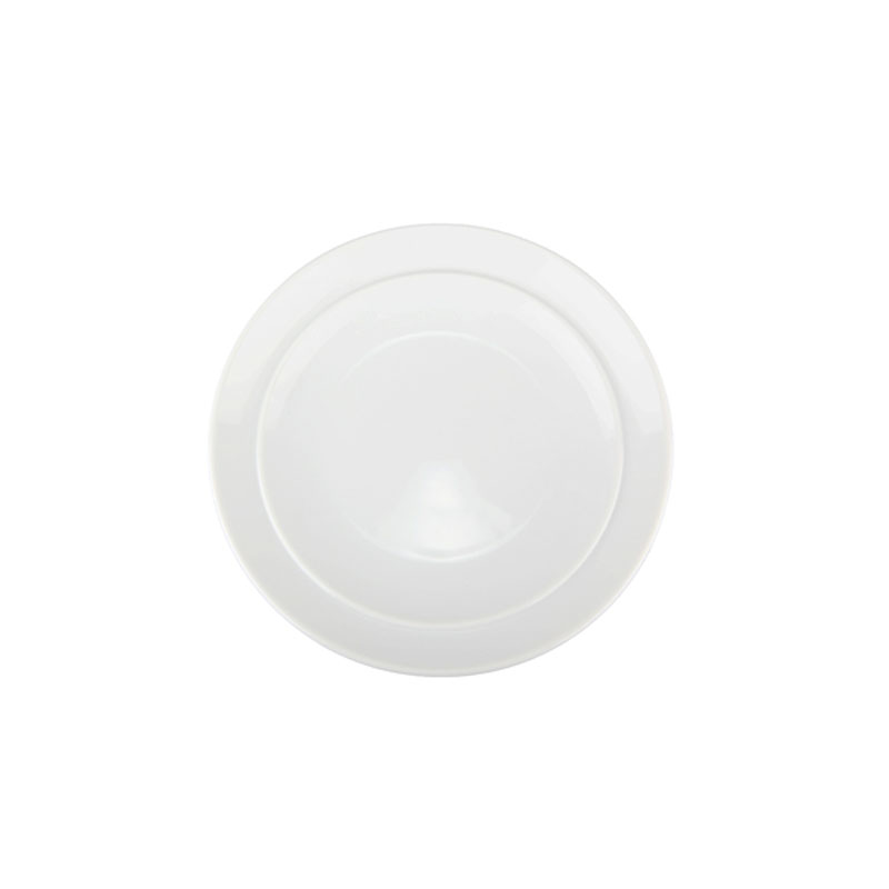 Denby Pottery White Coupe Tea Plate
