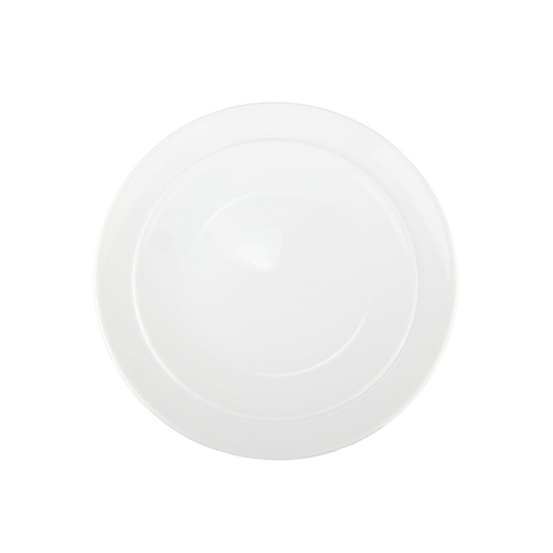 Denby Pottery White Coupe Breakfast Side Plate