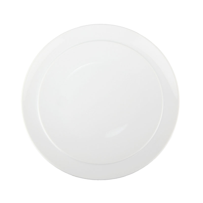 Denby Pottery White Coupe Breakfast Plate