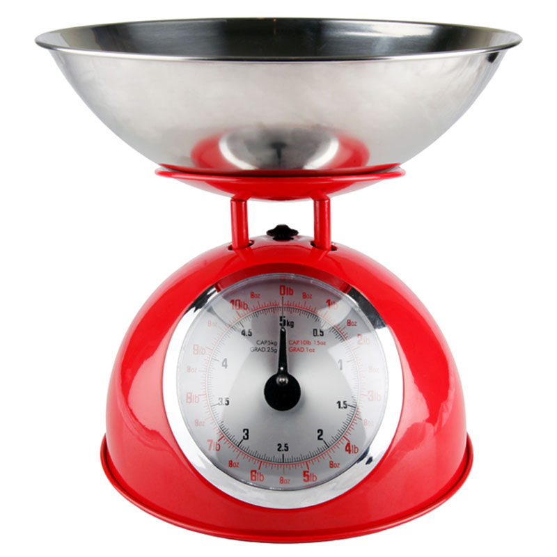 Denby Pottery Red Retro Mechanical Scales