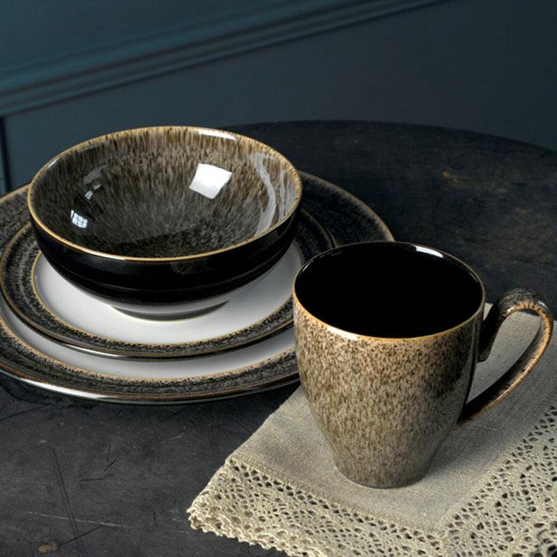 Denby Pottery Praline 16 Piece Dinner Set