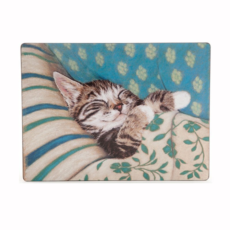 Tabletalk Bedtime Cat Placemats Set of 6  supplied by Denby Pottery