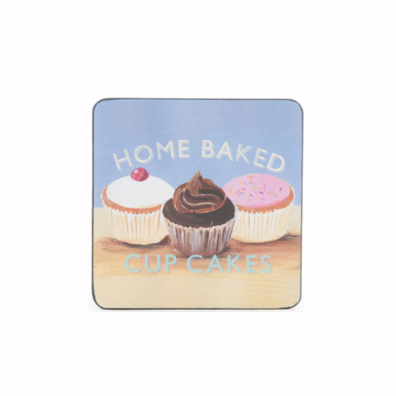 Tabletalk Cupcake Coasters Set of 6  supplied by Denby Pottery