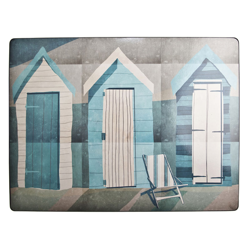 Tabletalk Beach Huts & Deckchair Placemats Set of 6  supplied by Denby Pottery