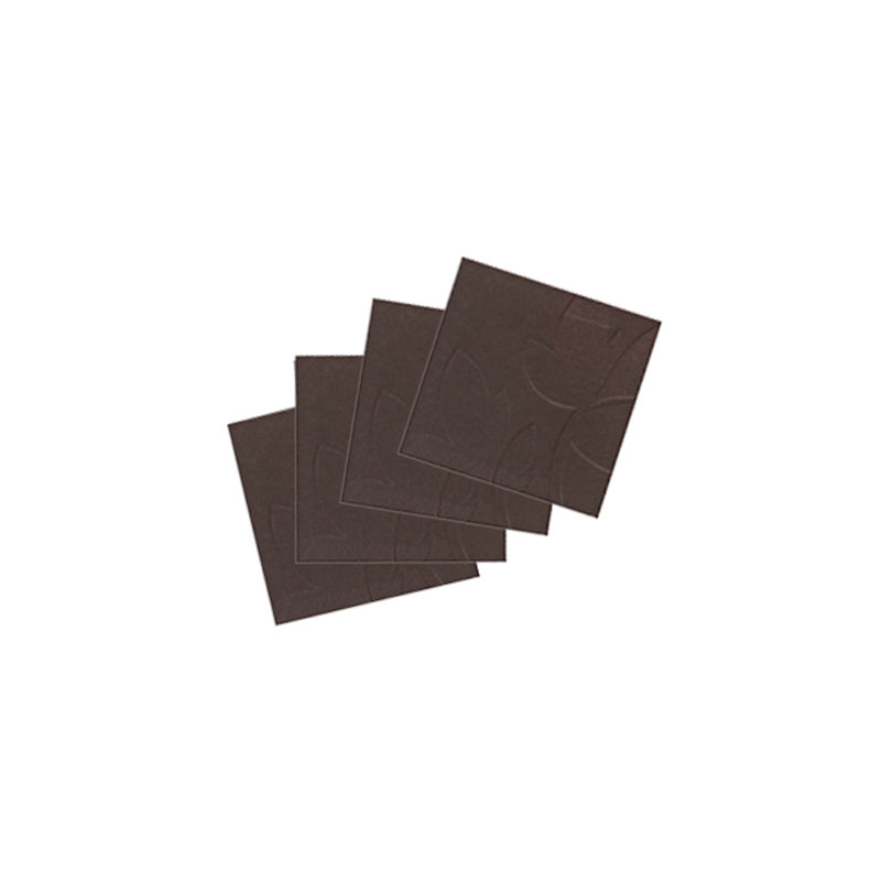 Denby Pottery Lifestyle Brown Leaf Faux Leather Coasters Set of 4
