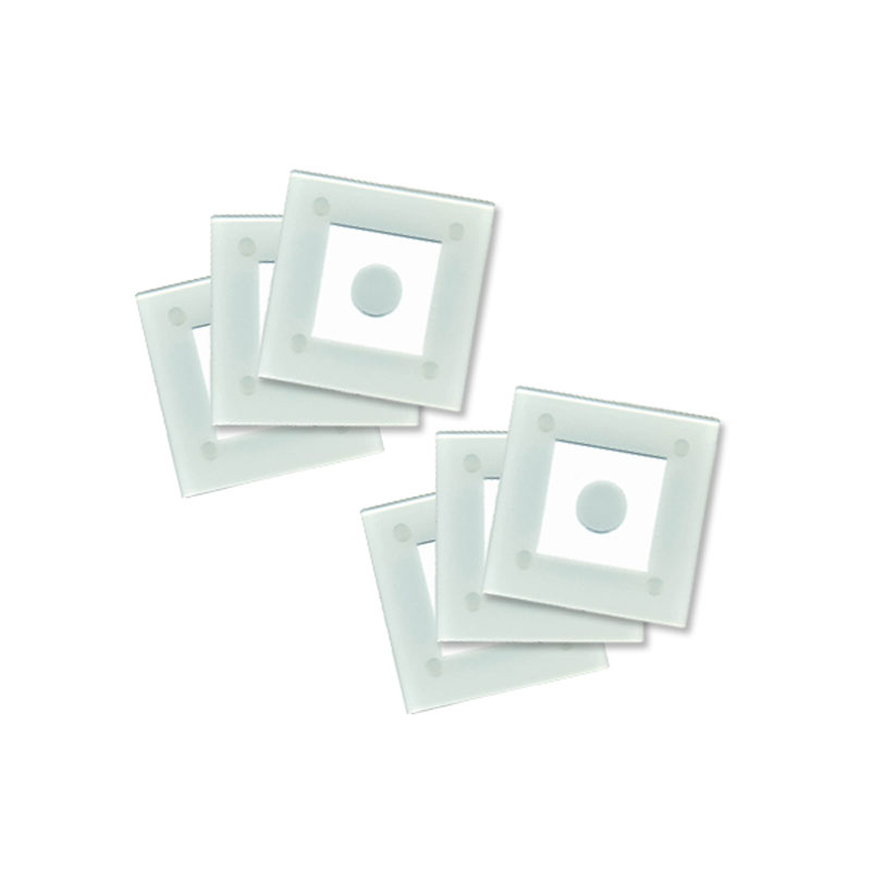 Denby Pottery Lifestyle Glass Coasters - Ice Set of 6