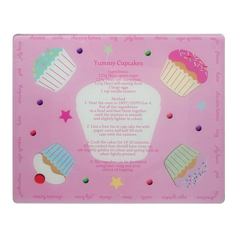 Denby Pottery Lifestyle Glass Pastry Board - Cupcake