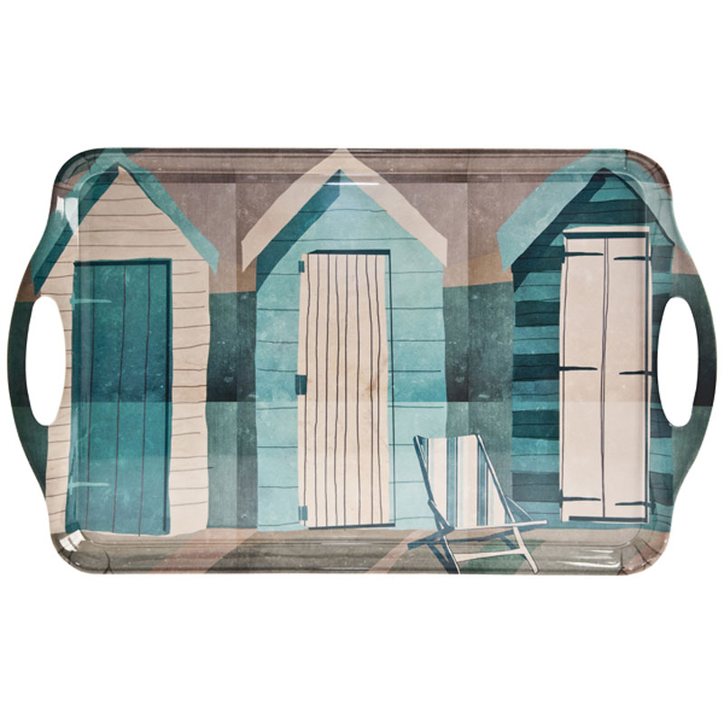 Tabletalk Beach Huts & Deckchair Serving Tray  supplied by Denby Pottery