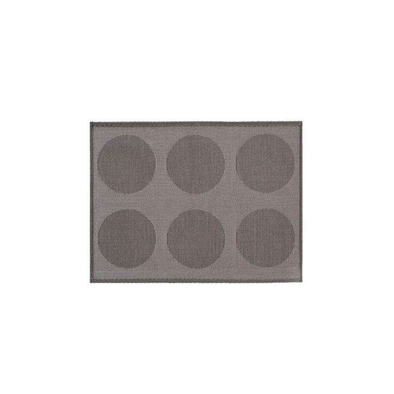 Denby Pottery Lifestyle Woven Vinyl Placemat - Silver Spots
