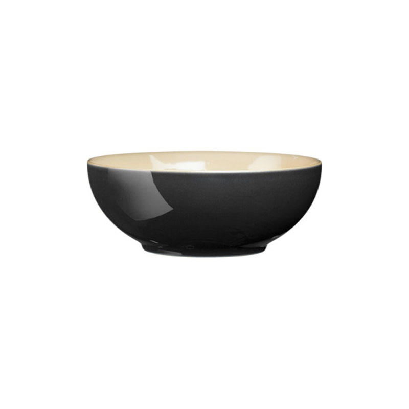 Denby Pottery Cook and Dine Black Soup/Cereal Bowl