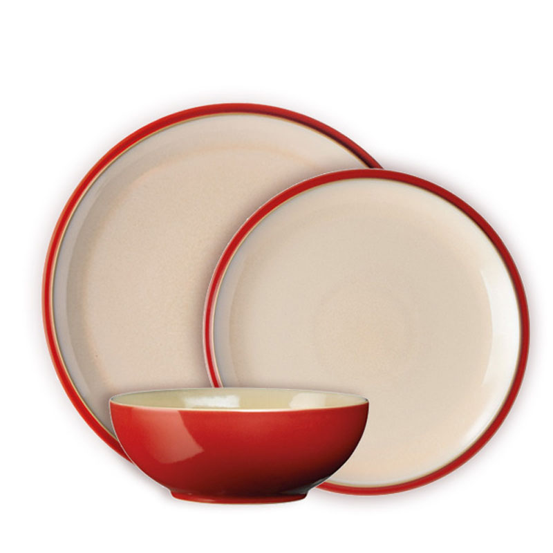 Denby Pottery Cook and Dine Cherry 12 Piece Set