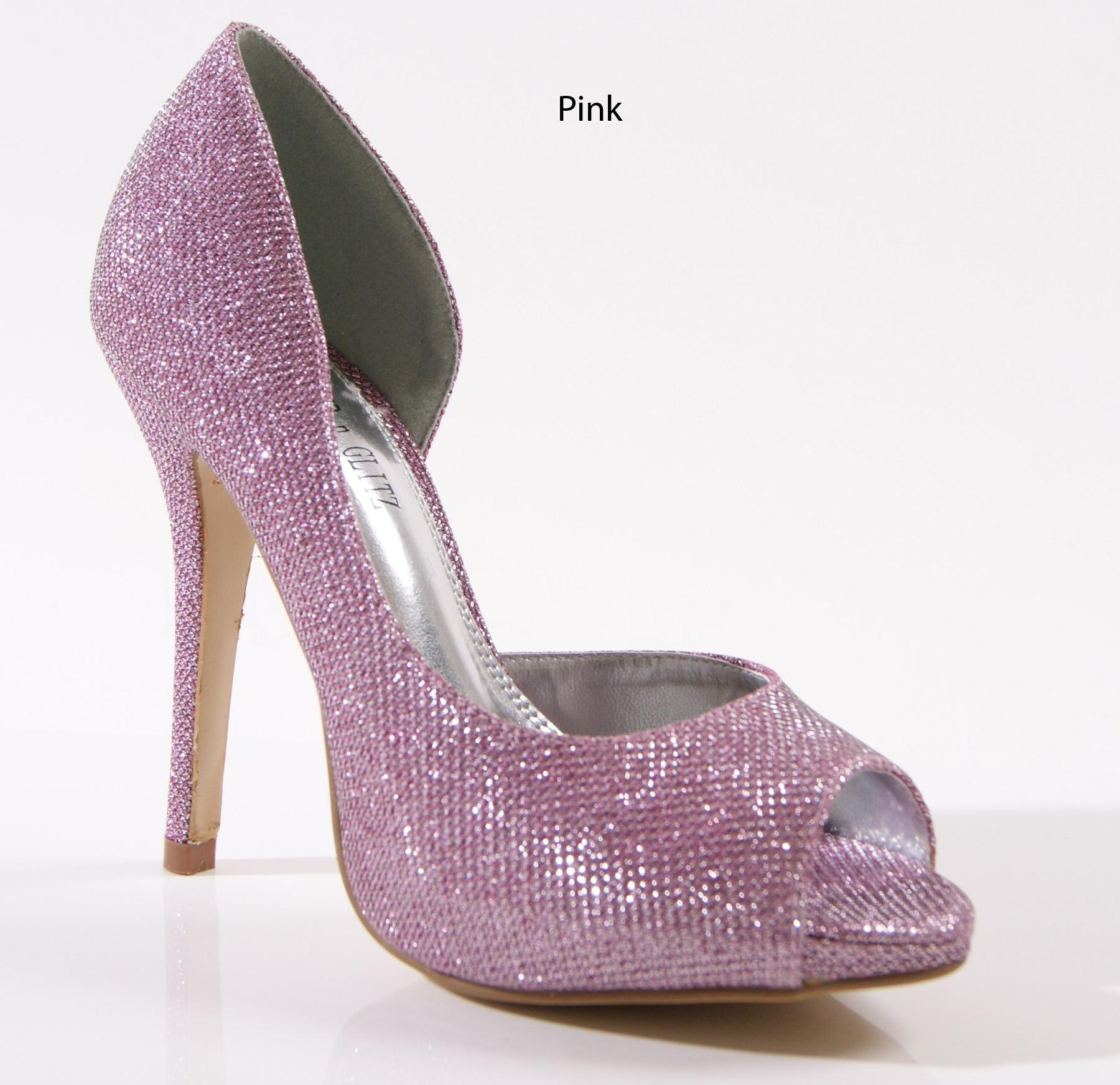 Señoras Para Mujer De Taco Alto Prom De Boda nupcial Peep Toe De Sandalias Zapatos Talla