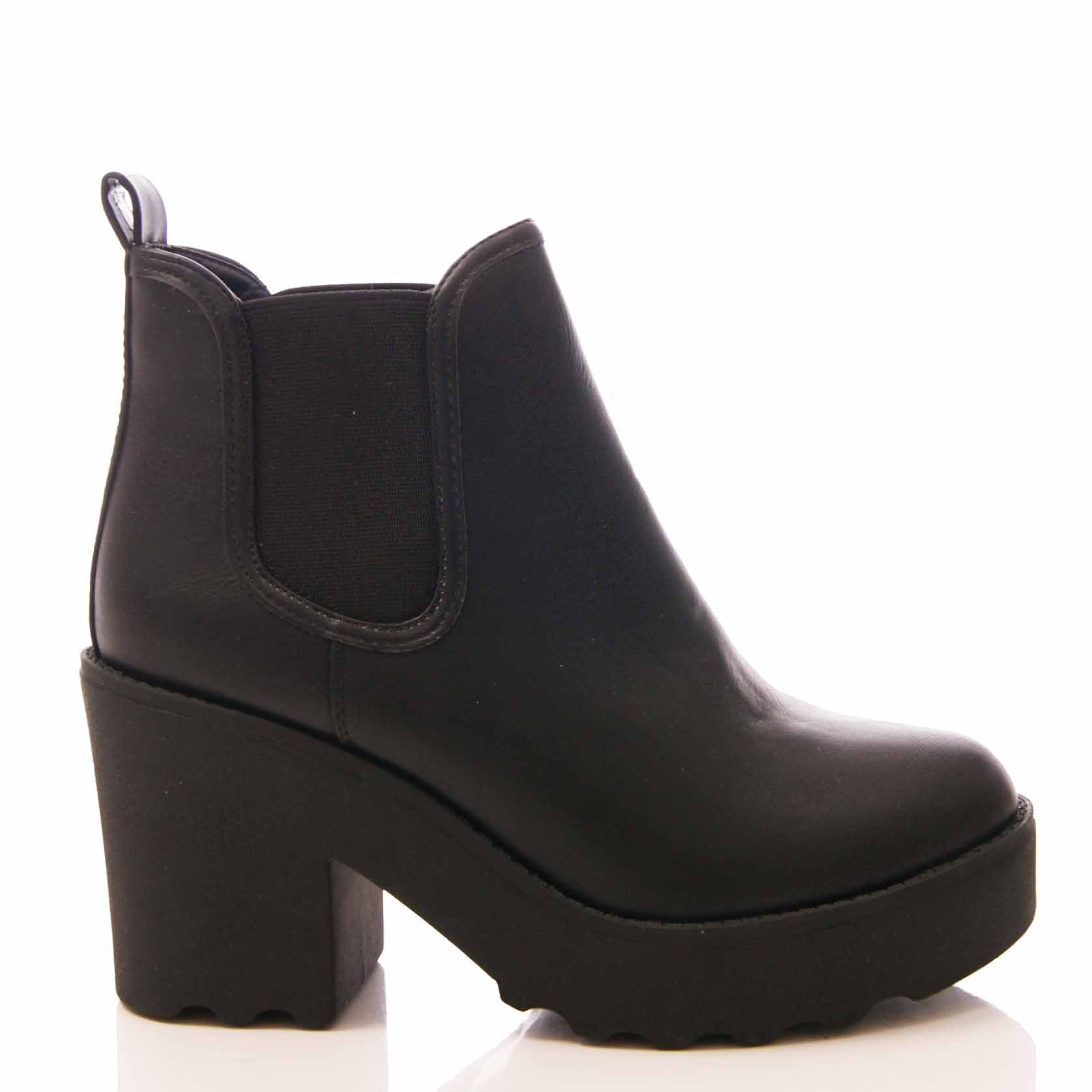 femme bottines chelsea plateforme chunky bottines à talon bottier