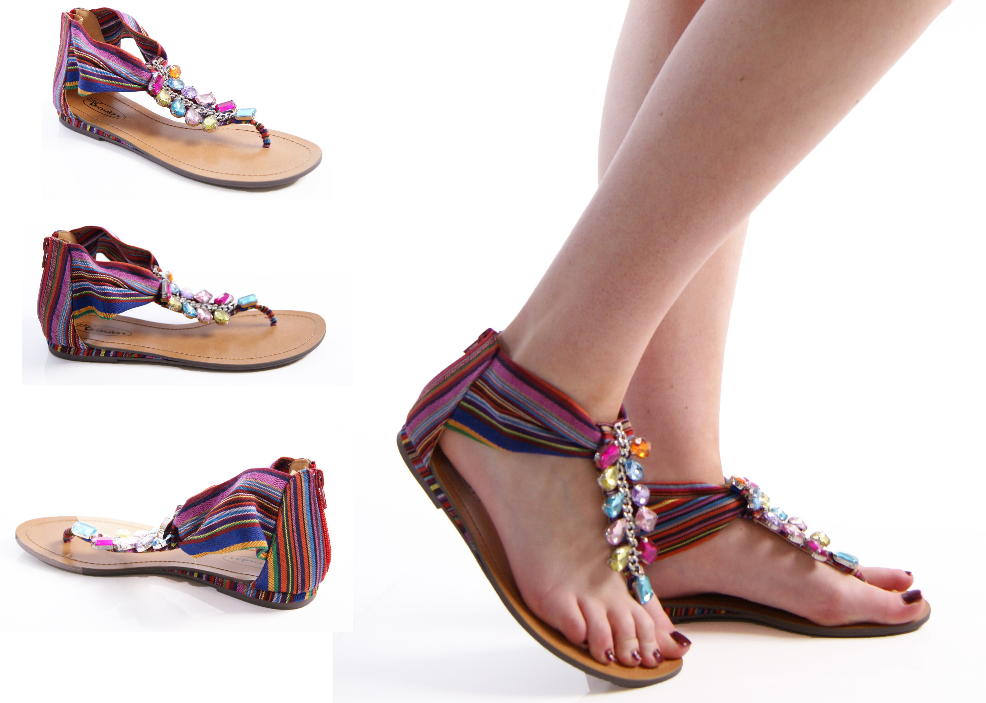 LADIES WOMENS SUMMER SANDALS HOLIDAY TOE POST FLAT FASHION ...