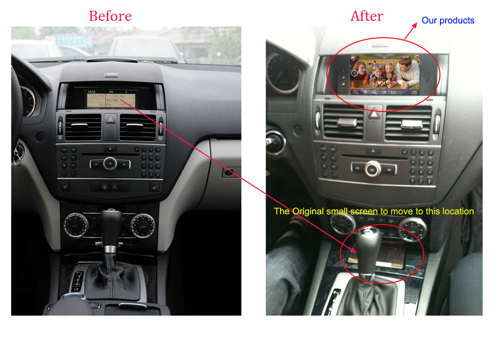 Upgrade car dvd gps navigation stereo autoradio for for Mercedes benz stereo upgrade