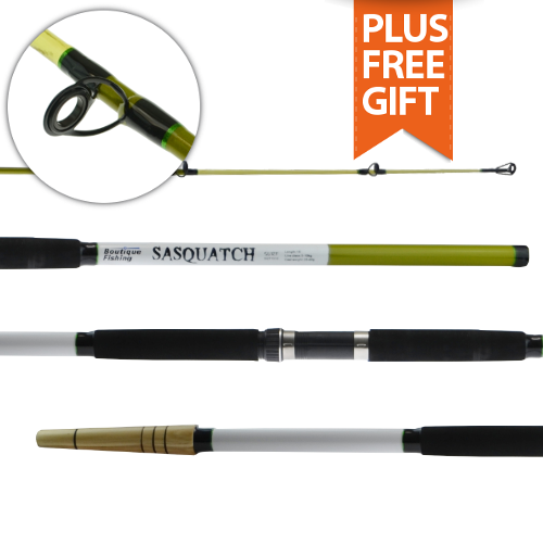 Boutique fishing 39 sasquatch 39 surf beach rod 15ft 3pc for Sa fishing 5 for 15