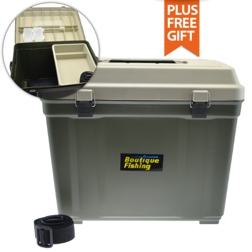 Boutique fishing big tackle box with huge main compartment for Large tackle boxes for fishing