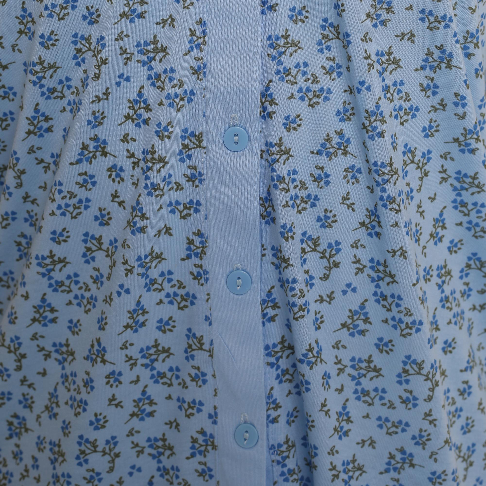 i-Smalls Ladies Pyjama Set Short Sleeve Floral Printed Buttoned Top Soft