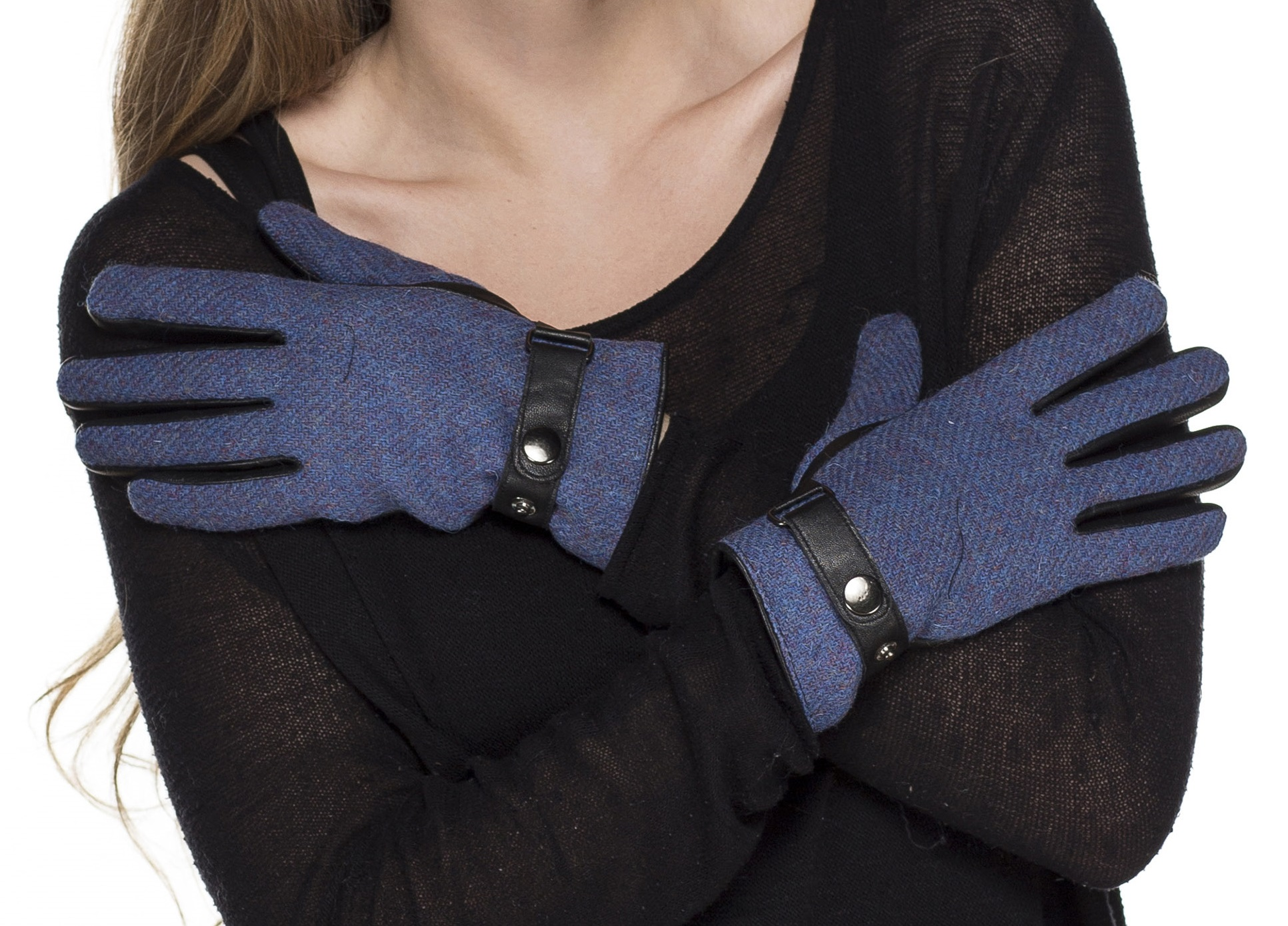 Womens leather gloves teal - I Smalls Women 039 S Harris Tweed And