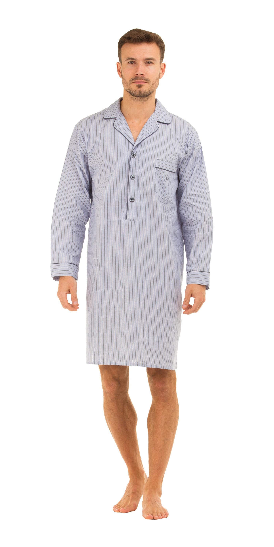 haigman men 39 s luxury cotton poplin nightshirt nightwear loungewear 7391 ebay. Black Bedroom Furniture Sets. Home Design Ideas