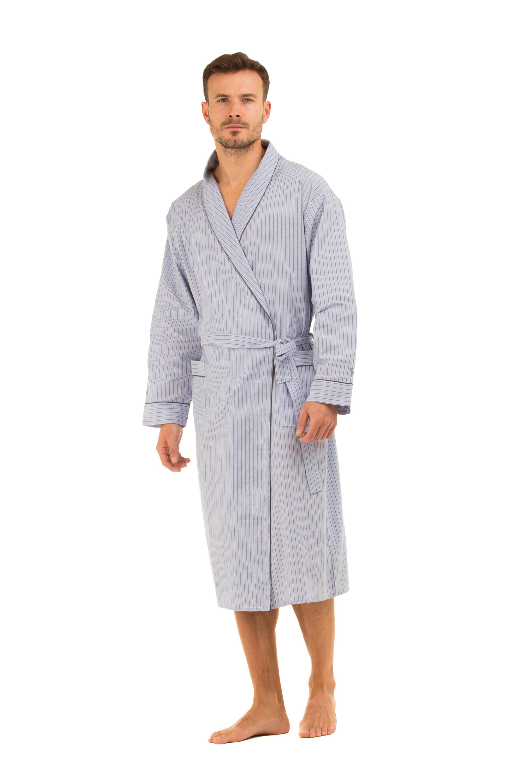 haigman hommes coton robe de chambre peignoir kimono nightwear de