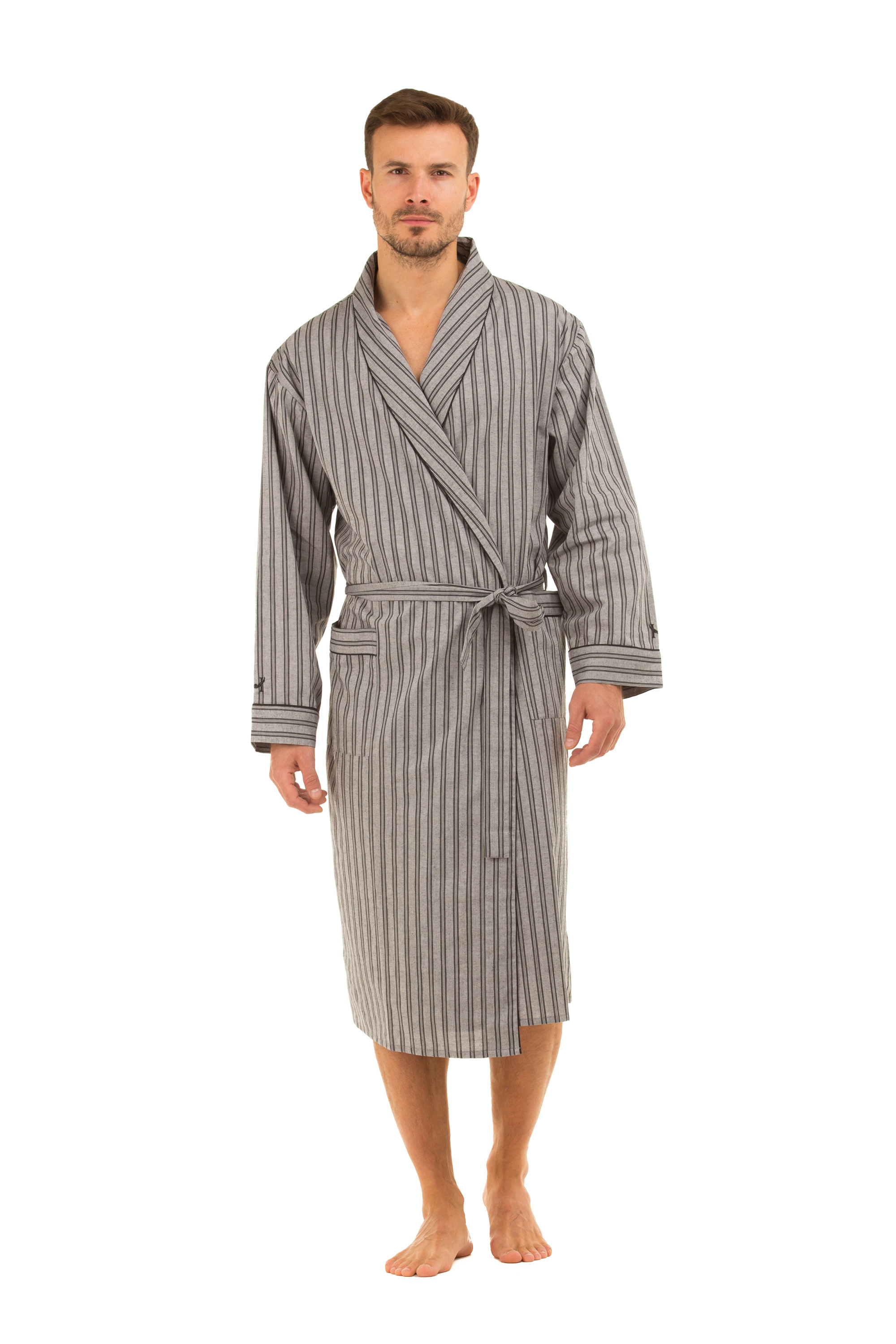 Haigman Men  39 s Cotton Dressing Gown Bath Robe Kimono . a6e204de7