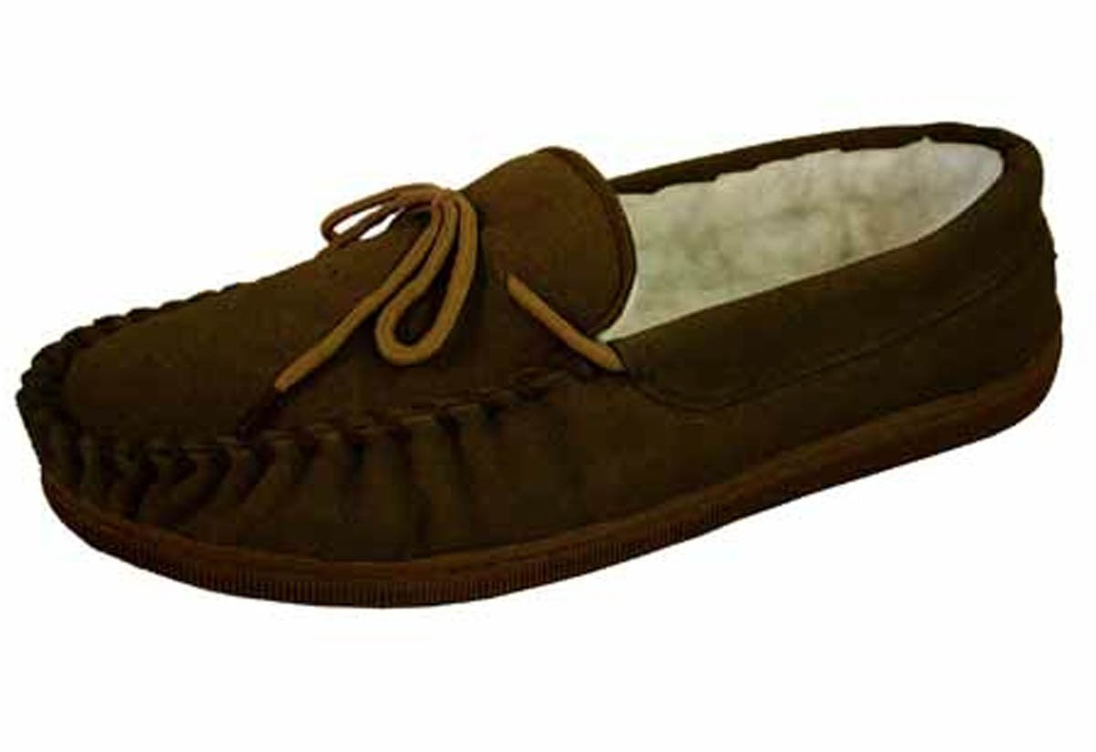 mens real suede wool lined moccasin slippers shoes ebay