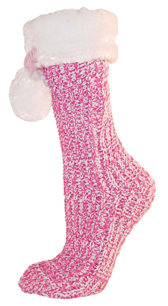 RJM Ladies Womens 1 Pair Chenille Warm Long Slipper Socks SK252 | EBay