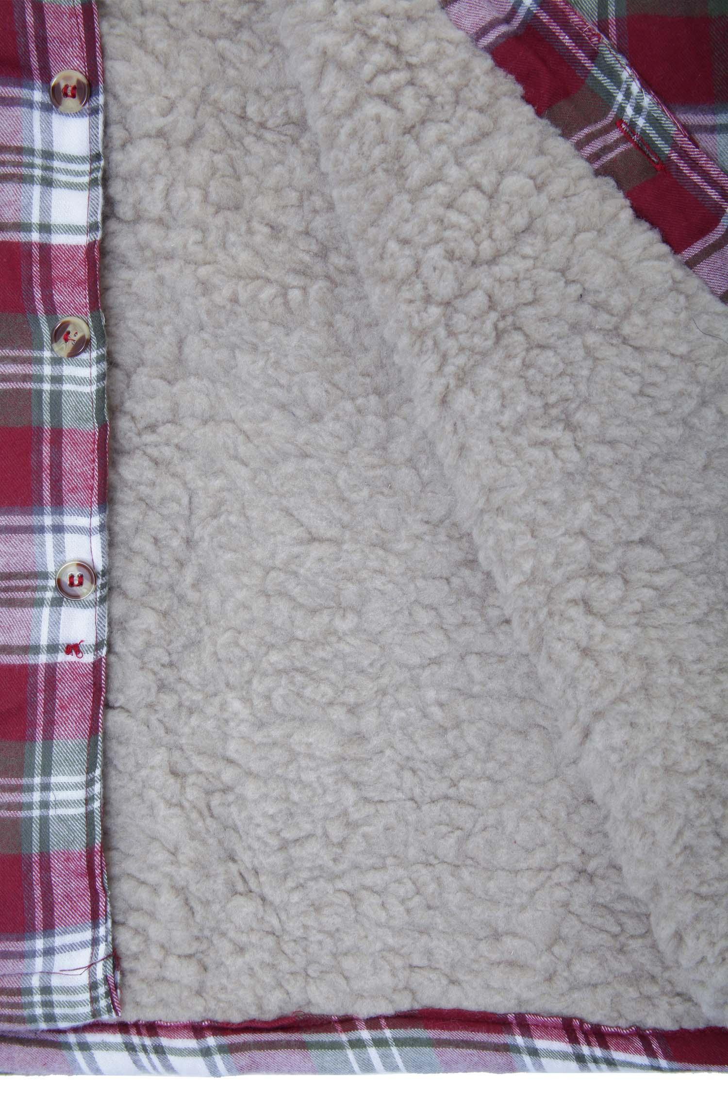 Mens Champion Skye Sherpa Fleece Lined Warm Winter Checked Thermal Work Shirt
