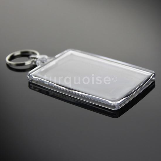 5x premiumqualit t klare acrylglas ohne druck foto schl sselanh nger 50 x 35 mm ebay. Black Bedroom Furniture Sets. Home Design Ideas