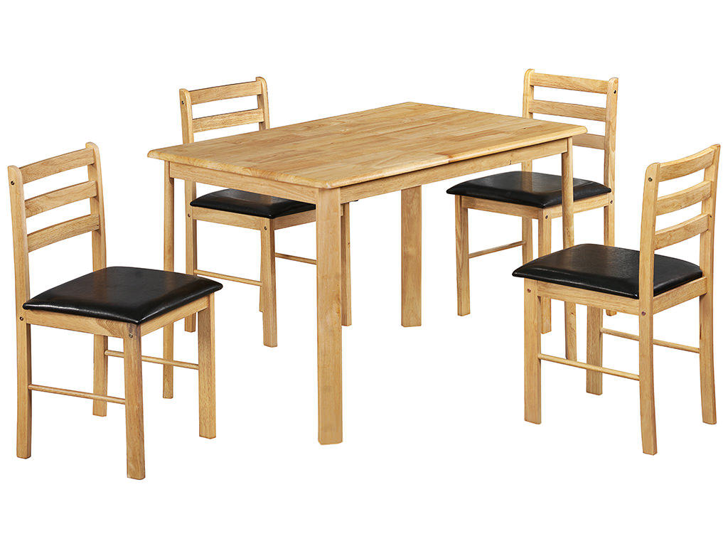Details About Natural Oak Finish Dining Table And Chair Set With 4 . Full resolution‎  portrait, nominally Width 1024 Height 768 pixels, portrait with #9B7030.