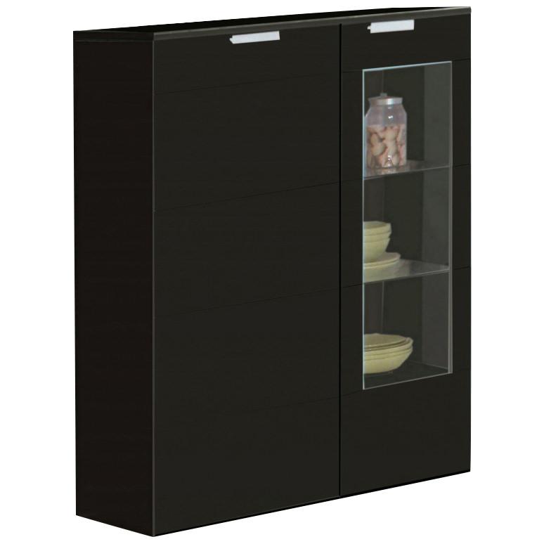 Black Kitchen Unit Doors: High Gloss Finish 2 Door Storage Cupboard Cabinet Unit