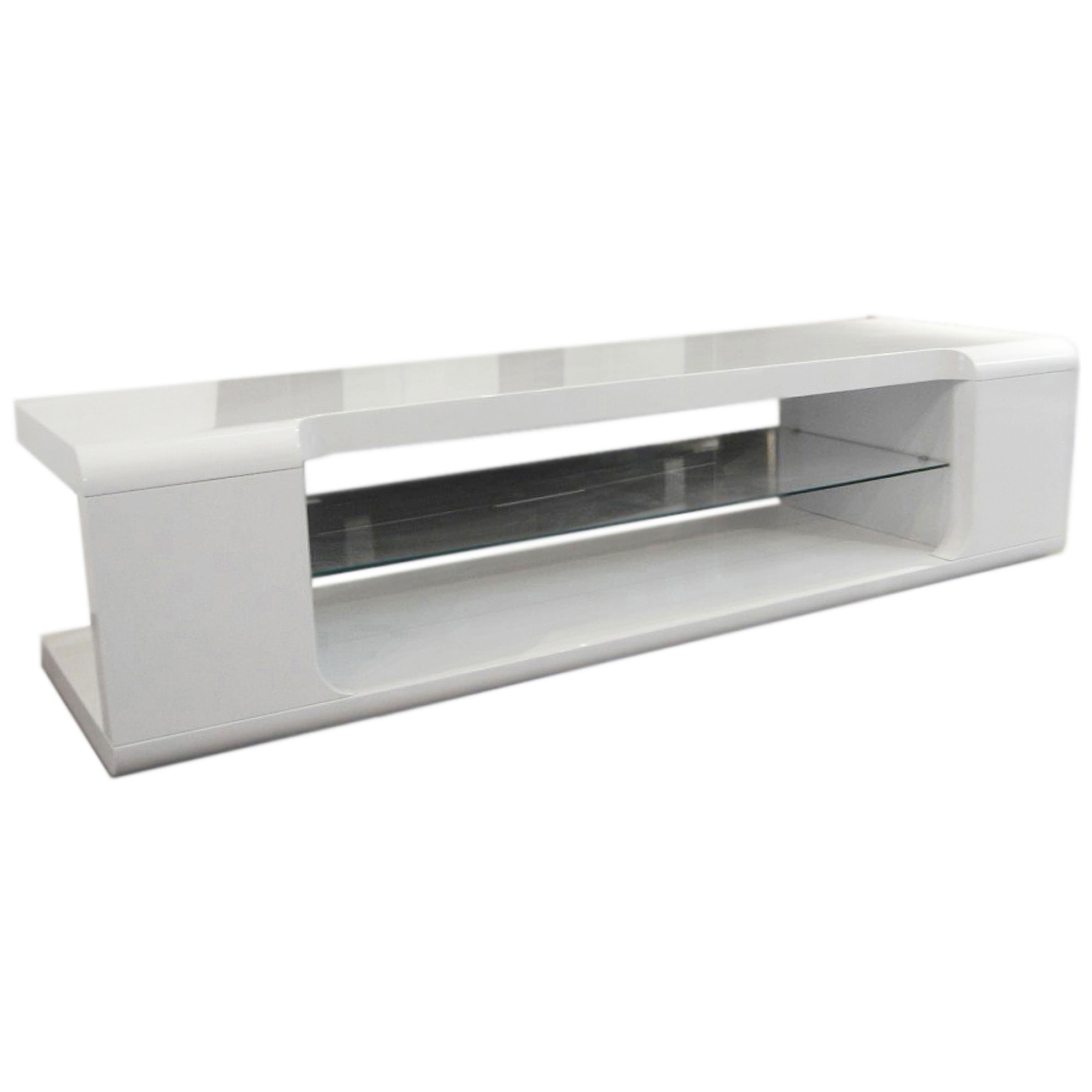 High Gloss Flat Screen Plasma LCD TV Table