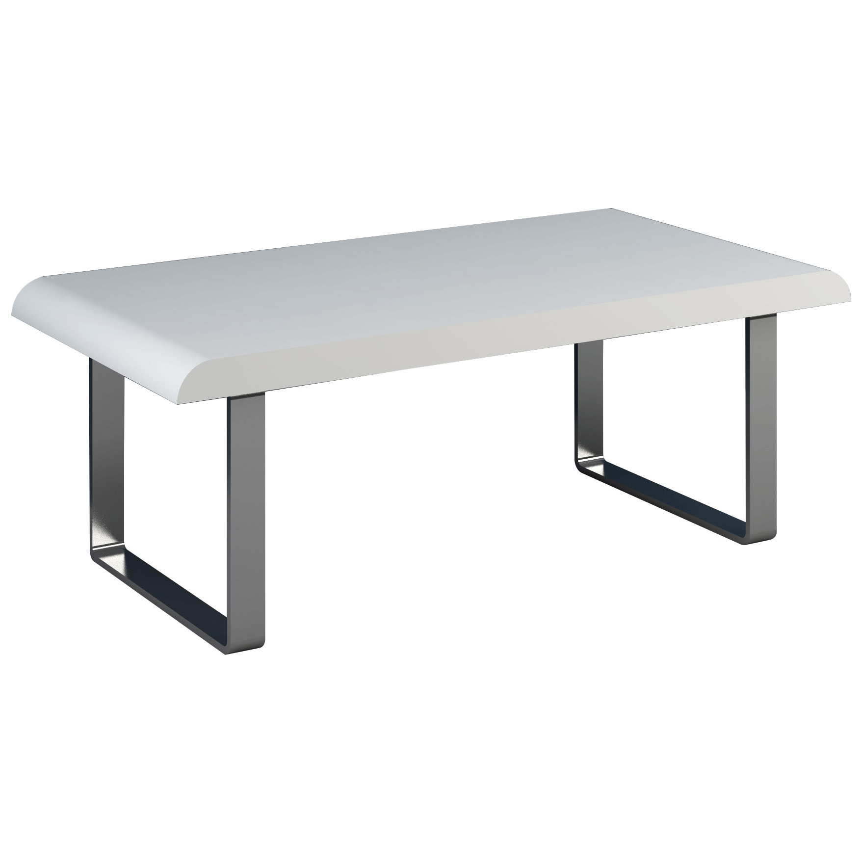 High Gloss Finish Rectangle Coffee Table