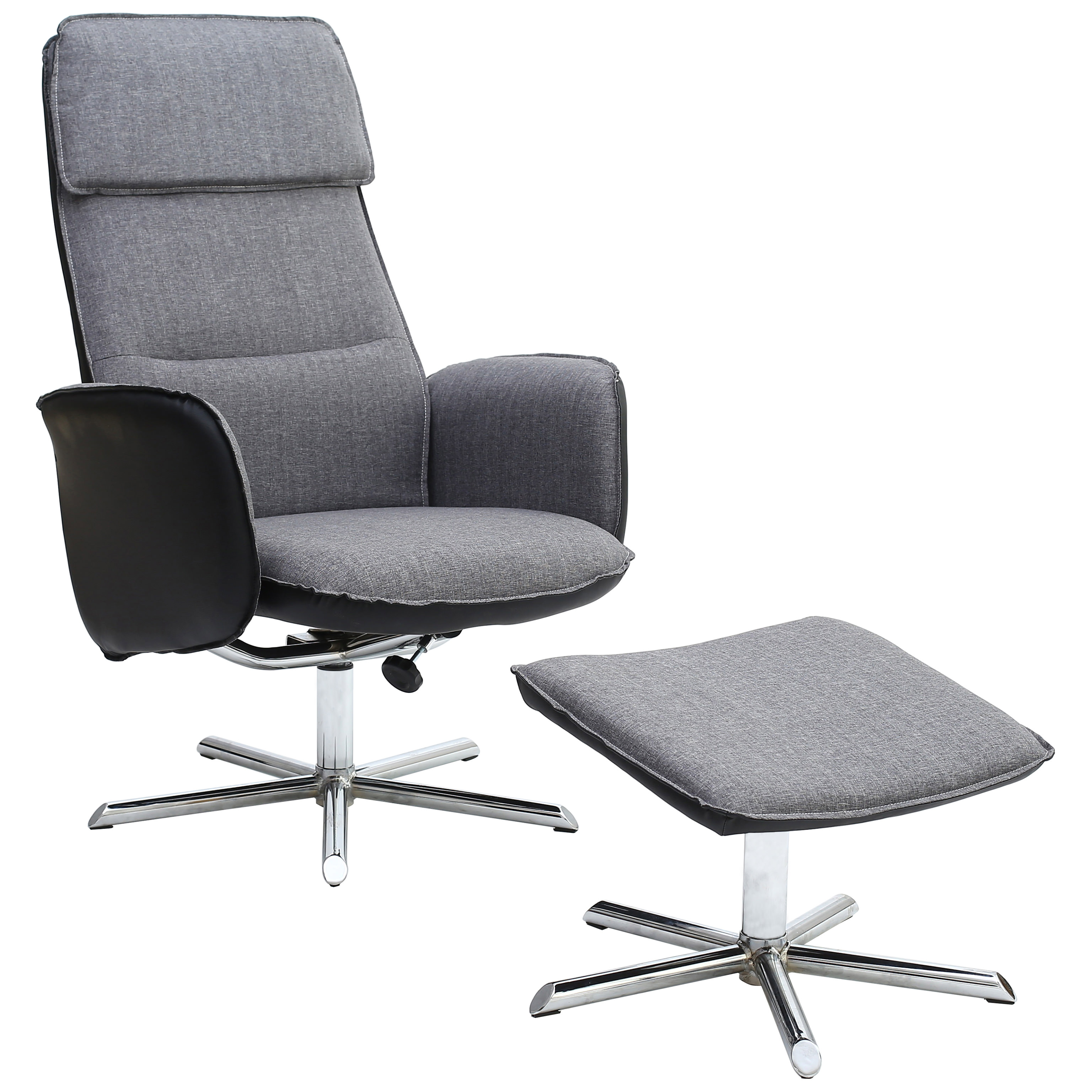 Fabric & Leather Recliner Reclining Chair Armchair Seat