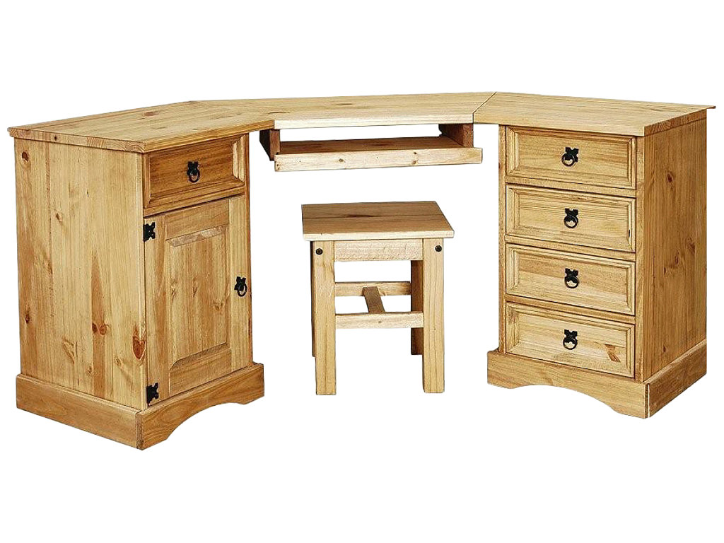 about solid pine study computer laptop pc desk table home office