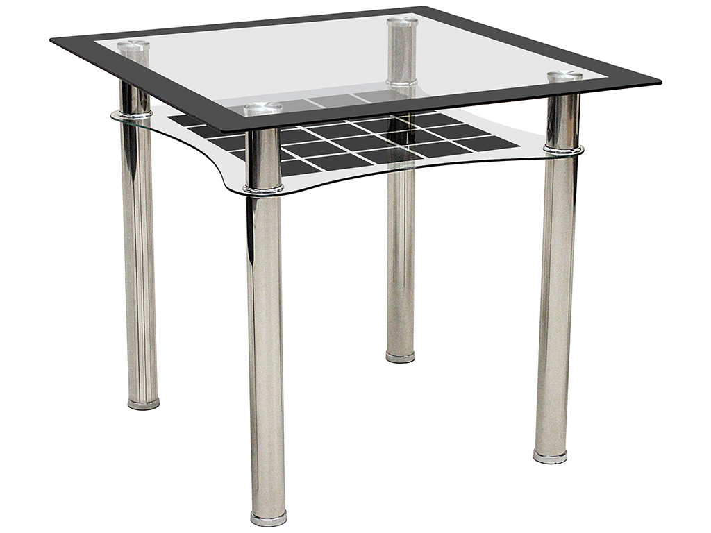 Metal black glass square dining table ebay for Black glass dining table
