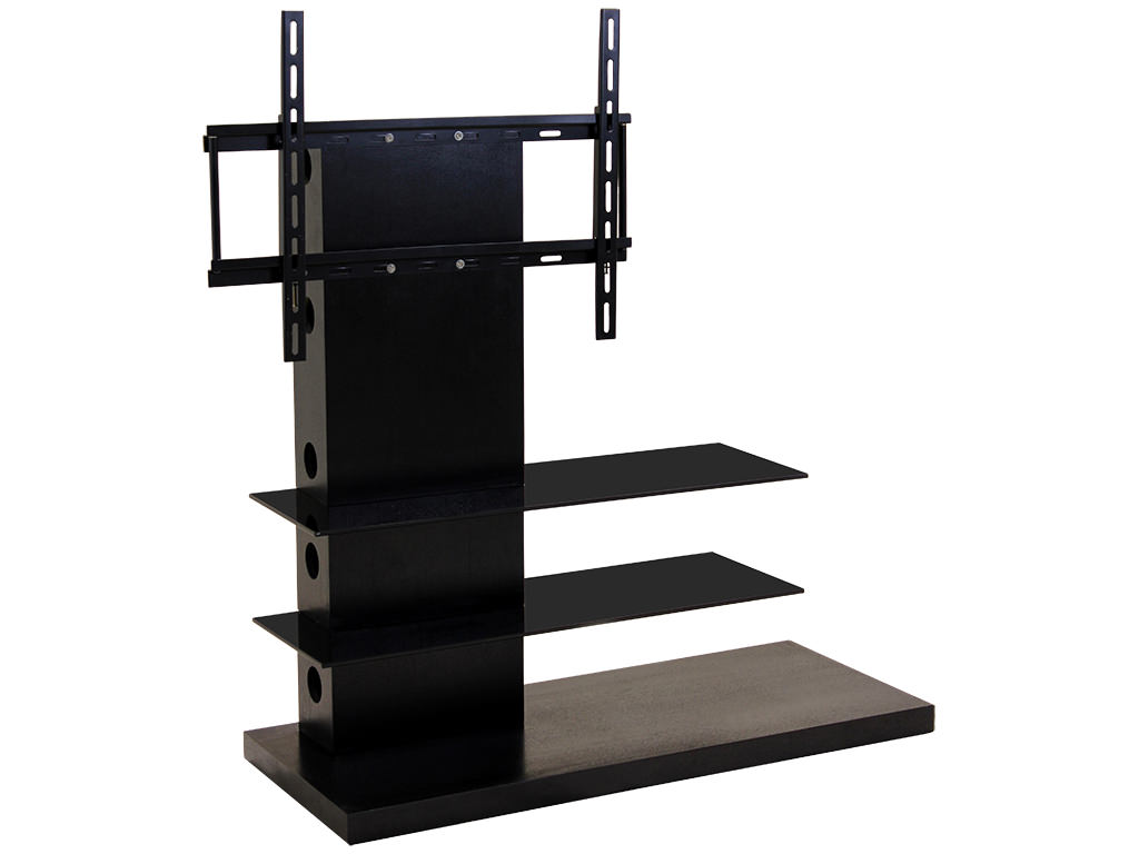 amazing photo of black wood glass flat screen plasma lcd tv table stand unit with mount