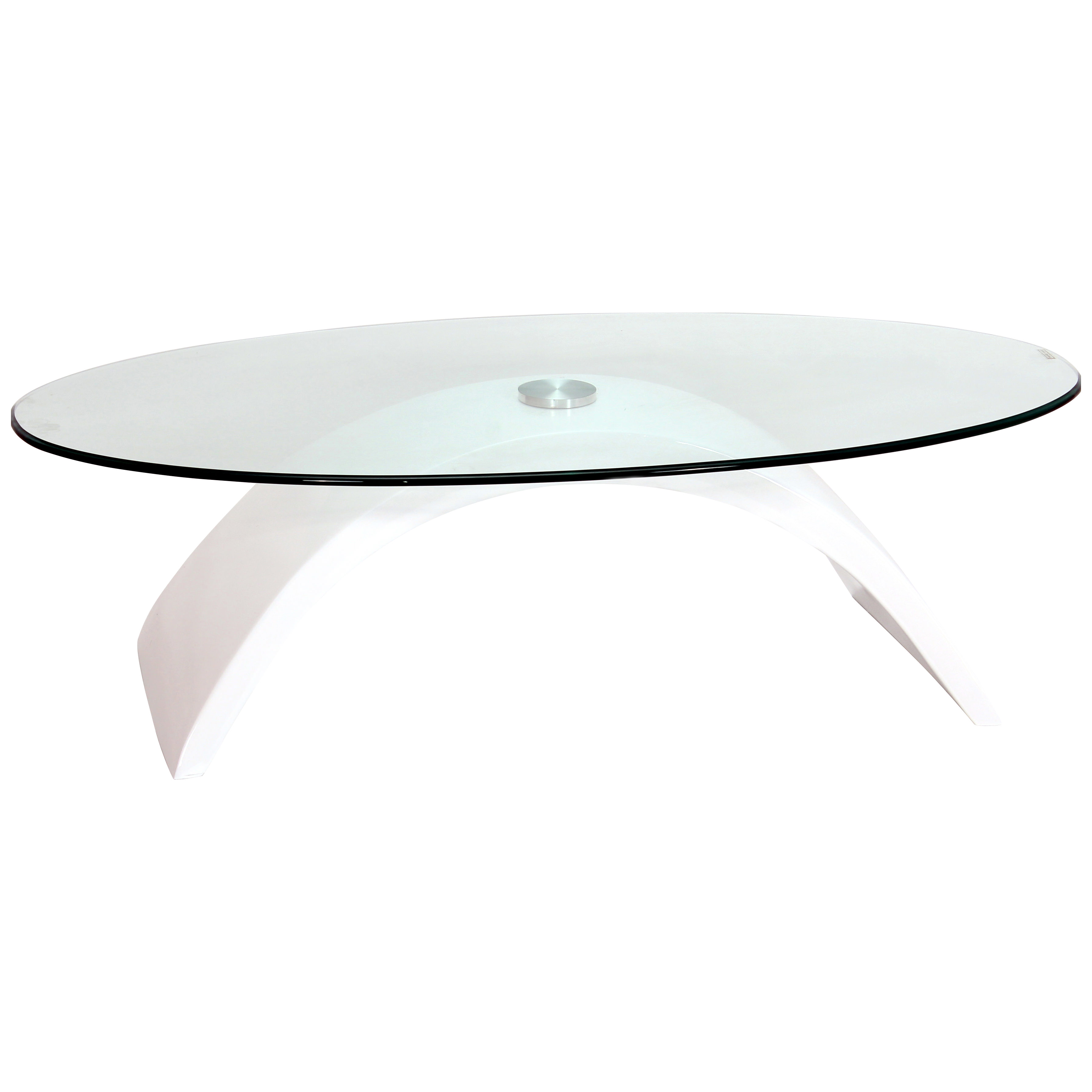 High Gloss Fibre Glass Clear Oval Coffee Table Black Red White Ebay